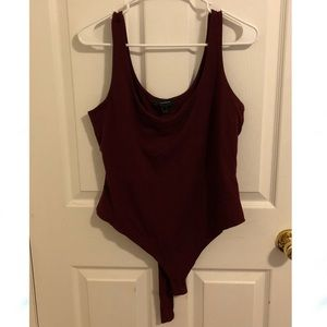 Maroon Forever 21 body suit - 0X